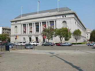 San Francisco Public Library - The 1916 main library building now houses the Asian Art Museum