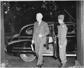 Assistant Secretary of State Will Clayton arrives by limousine for the Potsdam Conference in Germany. - NARA - 198910.tif