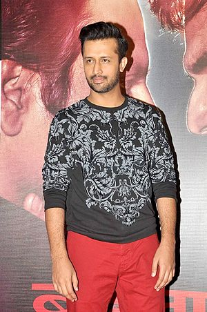 Atif Aslam - Aslam at success bash of Badlapur, 2015