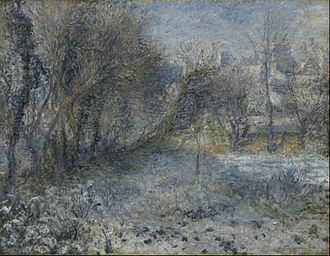 Skaters in the Bois de Boulogne - Snowy Landscape (1870–75), Musée de l'Orangerie, Paris