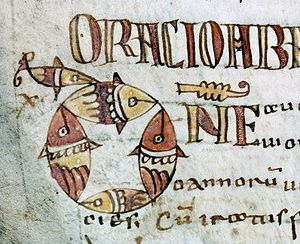 Merovingian illumination - Image: Autun ms 2 200v