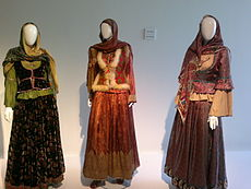 Azerbaijan national costume from Karabakh in Heydar Aliyev Center.jpg