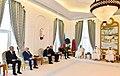Azerbaijani President, Emir of Qatar held an expanded meeting, 2017 01.jpg