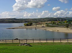 The reservoir formed by the Azibo Dam, in the Paisagem Protegida da Albufeira do Azibo