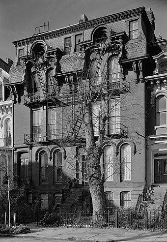 Bruce's house at 909 M Street NW in Washington, D.C. was declared a National Historic Landmark in 1975 BKBruce-house WashingtonDC.jpg