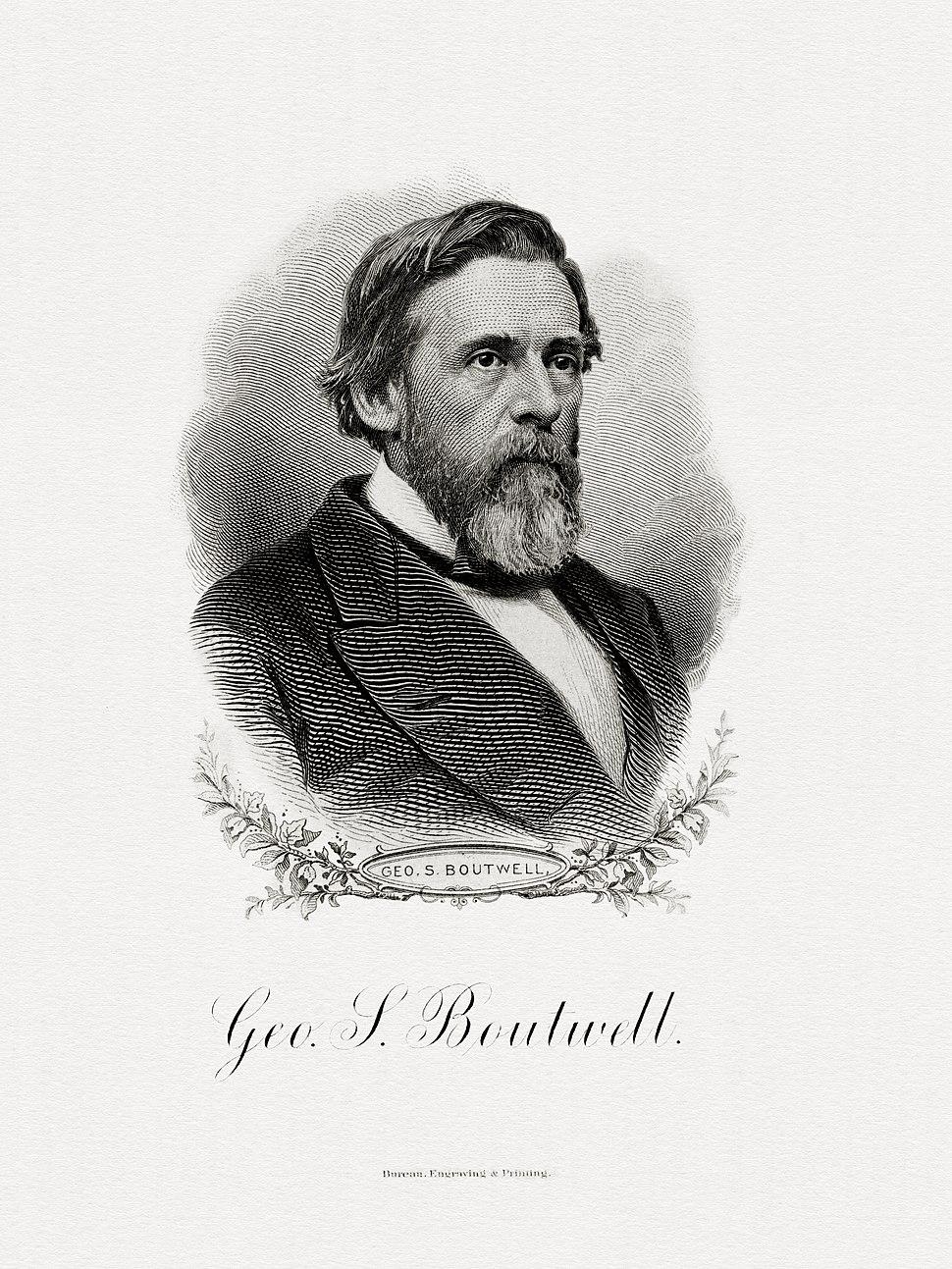 BOUTWELL, George S-Treasury (BEP engraved portrait)
