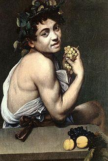 Άρρωστος Βάκχος, περ. 1593-1594, Πινακοθήκη Μποργκέζε, Ρώμη.