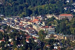 Baden-Baden - View of Baden-Baden from Mount Merkur.