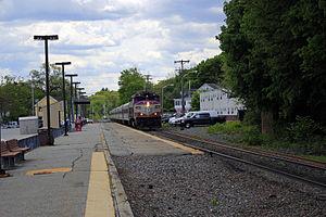 Ballardvale (MBTA station) - An outbound train pulls into Ballardvale station