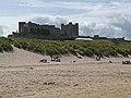 Bamburgh Castle and the beach - geograph.org.uk - 1997907.jpg