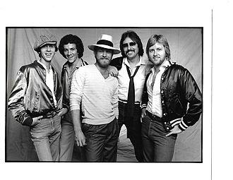 Bandana (country band) - The original Bandana lineup signed to Warner Bros. Records. L to R: Jerry Ray Johnston, Tim Menzie, Lonnie Wilson, Jerry Fox, Joe Van Dyke.