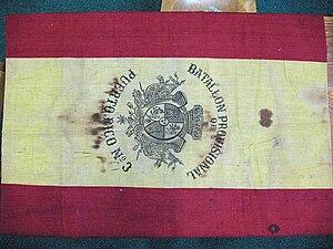Puerto Rican Campaign - Flag of the Batallón Provisional No. 3 de Puerto Rico (3rd Provisional Battalion of Puerto Rico)