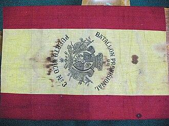 Flag of Puerto Rico - Image: Bandera tercer batallon
