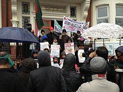 Bangladesh War Crimes Protest in Manchester