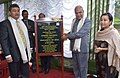 Banwarilal Purohit unveiling the plaque to declare the Mylliem C&RD Block as Open Defecation Free (ODF), on the occasion of Samagra Swachhta programme as part of 'Swachhta Hi Sewa', at Mattilang Park, Laitmynsaw village.jpg