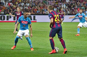 Gerard Deulofeu - Deulofeu taking on Napoli's Giandomenico Mesto in an August 2014 friendly