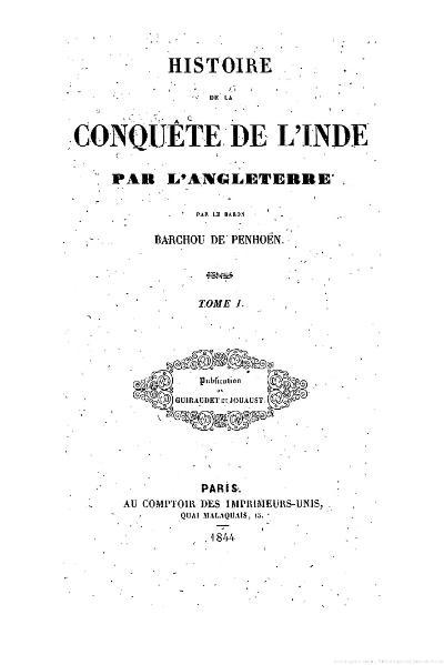 File:Barchou de Penhoën - Histoire de la conquête de l'Inde par l'Angleterre, tome 1.djvu
