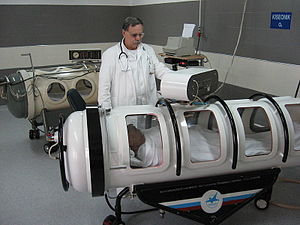 Diving chamber - Monoplace chamber for clinical hyperbaric oxygen treatment