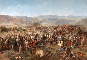 The Battle of Las Navas de Tolosa (1212), an important turning point of the Reconquista Batalla de las Navas de Tolosa, por Francisco van Halen.jpg