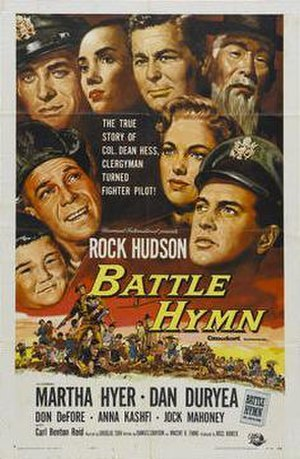 Battle Hymn (film) - Film poster by Reynold Brown