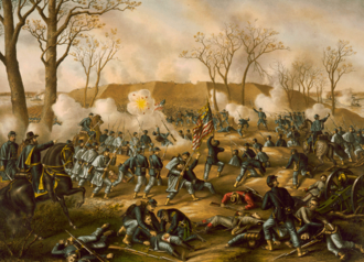 Battle of Fort Donelson - Battle of Fort Donelson, by Kurz and Allison (1887)