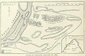 Battle of Kirbekan - A British map of the battle