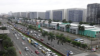 SM Mall of Asia - Buildings at the Jose Diokno Boulevard.