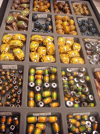 The Bead Museum - A selection of beads for sale at The Bead Museum's shop