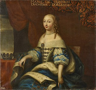 Marie de Bourbon, Duchess of Montpensier - Image: Beaubrun, workshop of Marie de Bourbon, Duchess of Montpensier Versailles