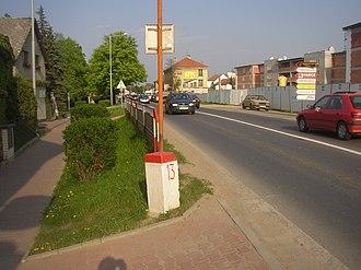 Běchovice - Image: Bechovice Prague CZ kilometre stone 13