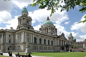 "Baroque Revival architecture - Belfast City Hall, an example of Edwardian Baroque architecture or ""Wrenaissance"""