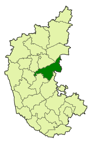 Ballari district - Location of the Bellary district with respect to the other Districts in Karnataka