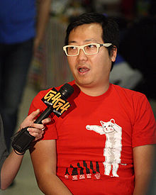 Ben Huh being interviewed by G4 at ROFLCon II 2.jpg