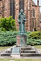 Benediktinerdenkmal an der Stiftskirche St. Peter & Paul in Wissembourg.jpg