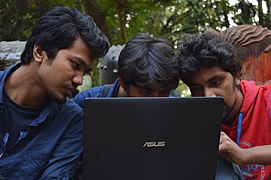 Bengali Wikipedians at Wikipedia 15 good article edit-a-thon and adda, Chittagong 2 (09).jpg
