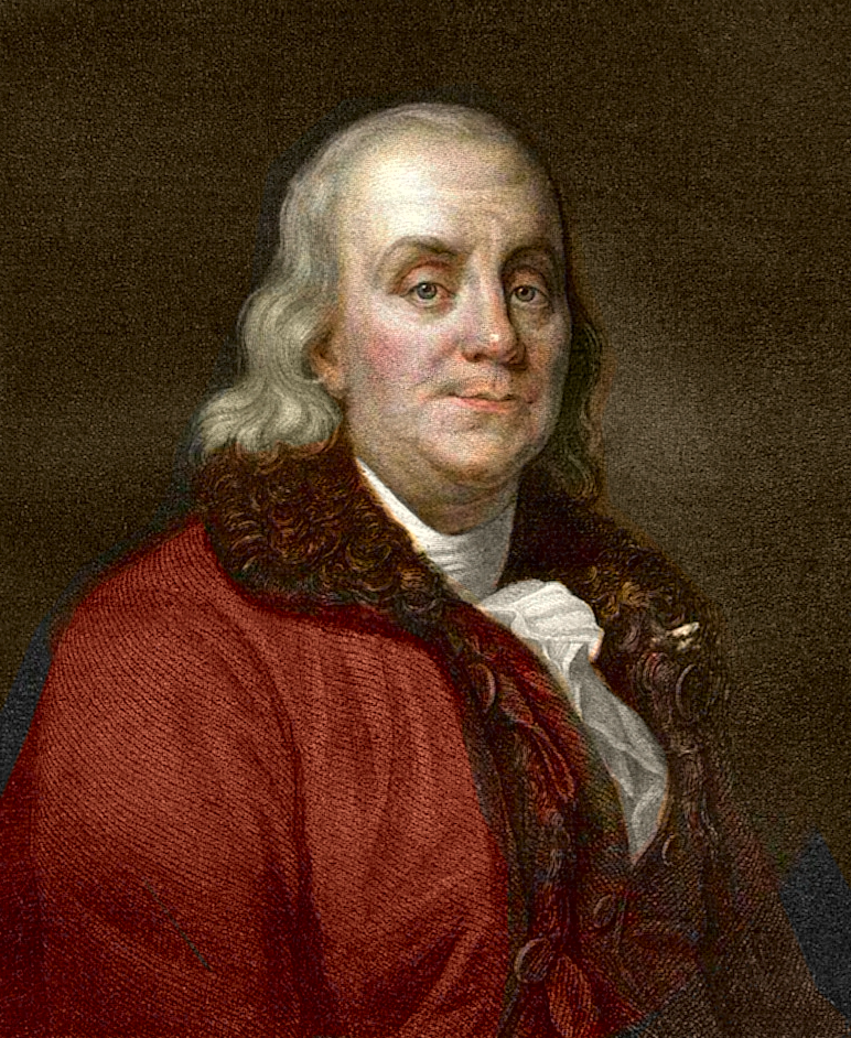 Benjamin Franklin Coloured Drawing