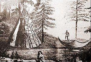 Newfoundland Colony - Image: Beothuk camp