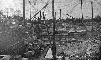 Berea Sandstone - Quarry No. 6 of the Cleveland Stone Company at Berea, Ohio, circa 1893