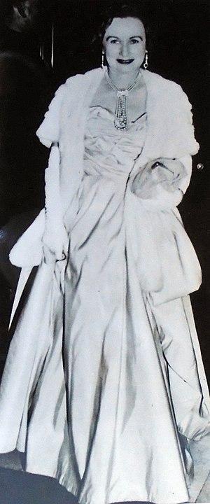Bertita Harding - Bertita Harding in a public presentation, 1955