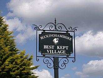 Best kept village - A Buckinghamshire best kept village sign