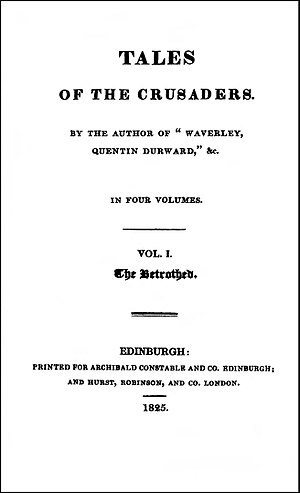 The Betrothed (Scott novel) - Image: Betrothed 1825