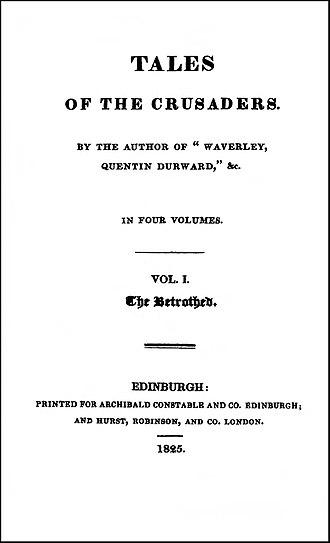The Betrothed (Scott novel) - Image: Betrothed 1825