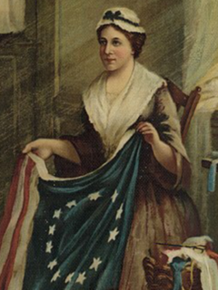 Betsy Ross American upholsterer who was credited by her relatives with making the first American flag