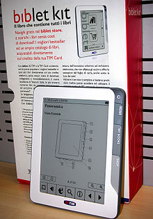 Lettore eBook Biblet prodotto da Sagem Wireless