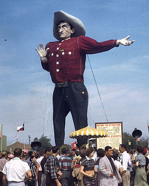 Big Tex statue at Texas state fair 1956