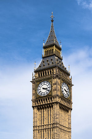 English: Close-up photograph of Big Ben clock ...