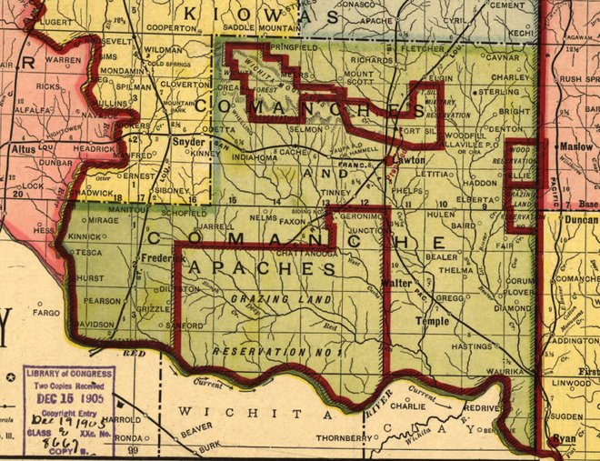 Map of Comanche County in 1905 Big Pasture 1905.png