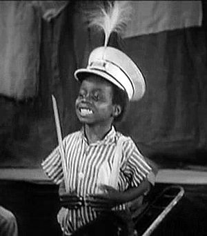 "Billie Thomas - Thomas as '""Buckwheat""' in Our Gang Follies of 1938."