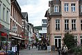 Bingen, view from the Speisemarkt to the Basilikastraße, the old guardhouse.JPG