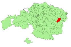 Location of Ziortza-Bolibar in Spain and Biscay